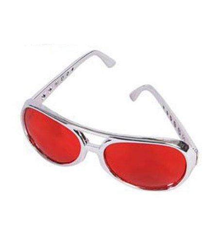 Red Rock Star Occhiali da sole - Carismatico Rock Star Occhiali da sole con lenti rosse Tainted