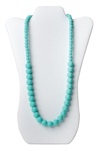 Bumkins Nixi Ciclo Silicone Teething Necklace, Turquoise front-784589