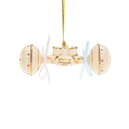 Lenox 2014 Baby'S 1St Christmas Rattle Ornament front-1067989