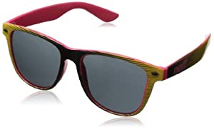 Neff Mens Daily Sunglasses, Black/Yellow/Pink, One Size Fits All