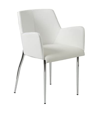 Euro Style Sunny Armchair With 4-Leg Base, White