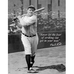 Buy Tin Sign Babe Ruth No Fear. by Tin Signs