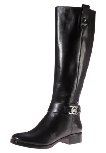 Michael Kors Charm Riding Boot Black Leather Boot Women Size 5 M