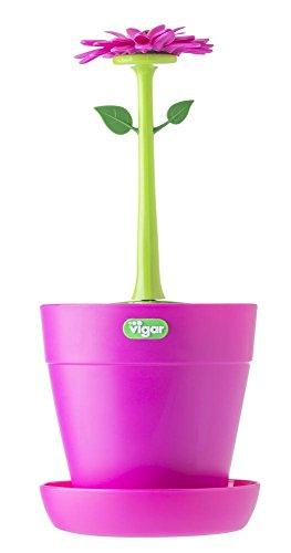Vigar-Flower-Power-Portaposate-colore-rosa-e-verde