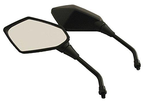 Neverlandback® Pair of Stealth Style Motorcycle Mirrors - Kawasaki, Suzuki, Honda, Victory (Honda Cycle compare prices)