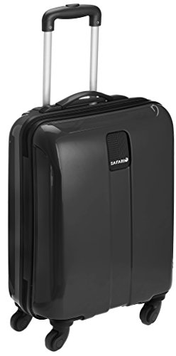 Safari Thorium Polycarbonate 55 (cms) Black Hardsided Carry-On (Thorium-Sharp-Black-55-4WH)
