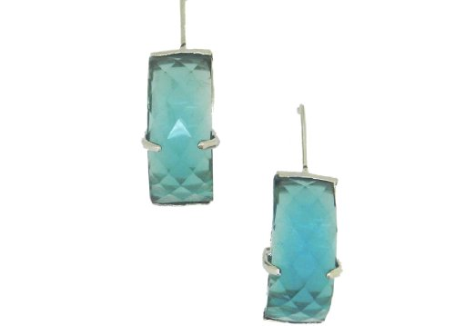 Expressions Light Blue Raisen Stone Dangle & Drop Earrings for Women EXPER0100 (multicolor)