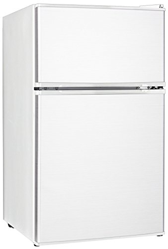 Midea Whd-113Fw1 Full-Size Double Reversible Door Refrigerator And Freezer, 3.1 Cubic Feet, White