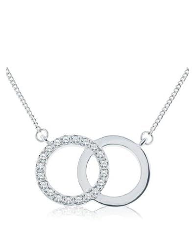 Diamond Style Conjunto de cordón y colgante Forever Pendant Plateado