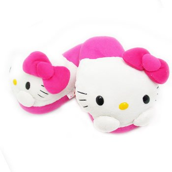 Hello Kitty Plushy Kid Slippers (feet size measure by 7 inches)