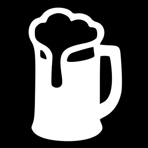 Beer Mug Vinyl Cut Decal | Cooler Fridge Cars Trucks Vans Walls Toolbox Laptop|White| 5.5 In Tall Decal | CCI231 (Mini Fridge Keystone compare prices)