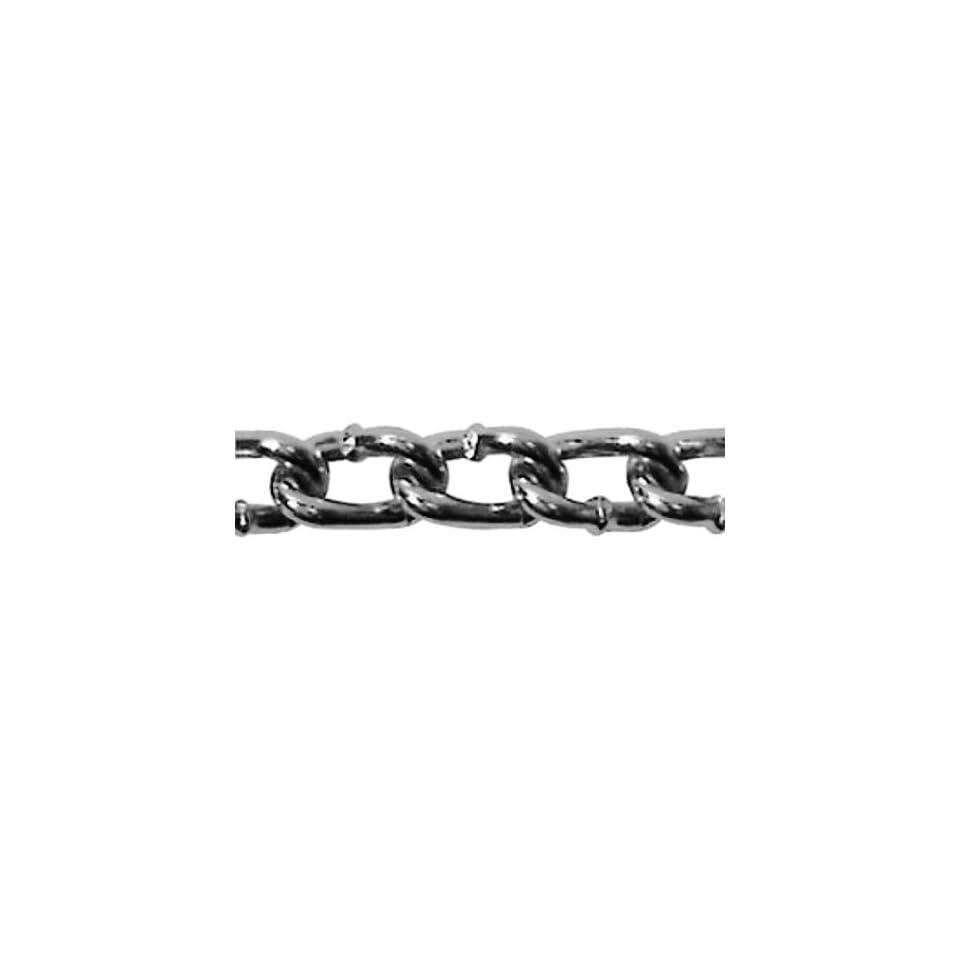 ASC MC1503031 Low Carbon Steel Twist Link Machine Chain, Zinc Plated, #3 Trade, 1/8 Diameter x 100 Length, 255 lbs Working Load Limit