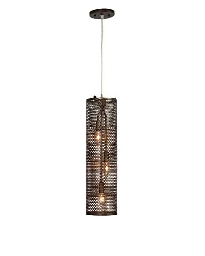 Varaluz Lit-Mesh Test 3-Light Foyer Pendant, New Bronze