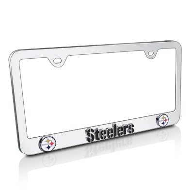 NFL Pittsburgh Steelers 3d Logo Steel License Plate Frame - Moamoanonono