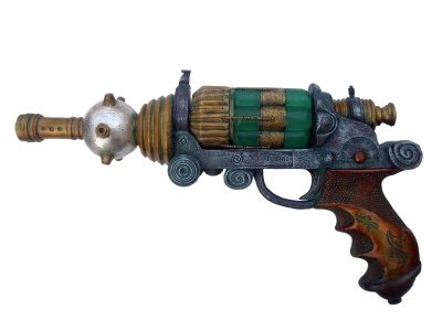 Ion Disruptor and Stand - Fantasy Replica Gun - Colonel Fizziwig - Steampunk