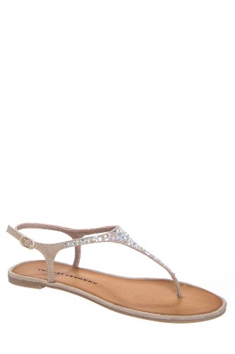 Chinese Laundry Glisten Flat Ankle Strap Thong Sandal