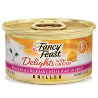 Fancy Feast Delights with Cheddar Grilled Chicken & Cheddar Cheese Feast in Gravy