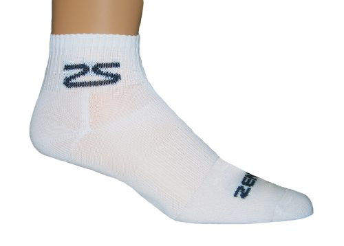 Buy Low Price Zensah Men's Cycling Socks, Medium, White (8510-WHT-03)