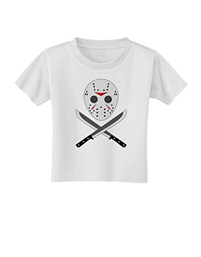 Scary Mask With Machete - Halloween Toddler T-Shirt