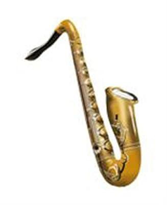 aufblasbares Saxophon, ca. 54 cm, goldfarben bei aufblasbar.de