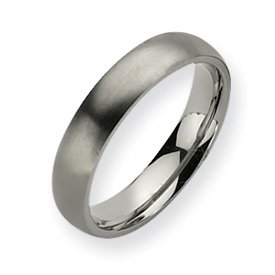 Titanium 5mm Brushed Band Ring - Size 8.5 - JewelryWeb