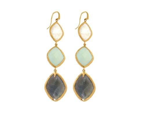Missoma 18ct Gold Vermeil Maiya Earrings in Multi Gemstones