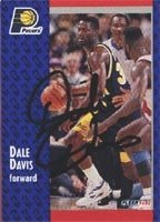 Dale Davis Indiana Pacers 1992 Fleer Autographed Hand Signed Trading Card - Rookie... by Hall+of+Fame+Memorabilia