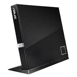 Asus SBW-06D2X-U/BLK/G Black 6X Slim Blu-ray BDRW DVDRW External Writer