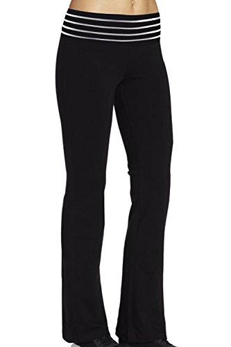 Ilovesia Women'S Workout Boot Leg Pant Size M Us Black