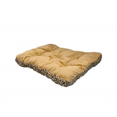 Pet Bed 28″ Square Leopard Print Reversible Dog Cat Mat Cushion Kennel Pad Crate House Cage Puppy Kitten Warm Nest