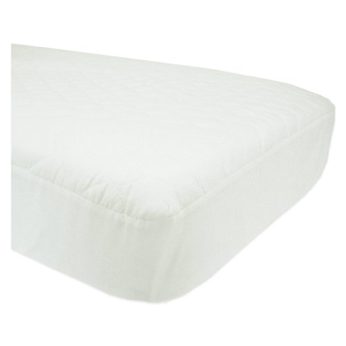 American Baby Company Waterproof Fitted Quilted Crib and Toddler Mattress Pad Cover - 1
