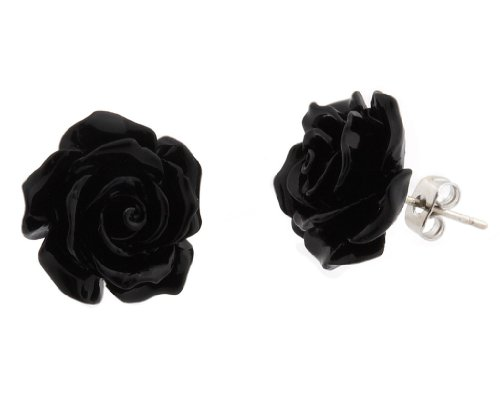 Rose Earrings Amazon Rose Flower Earrings Stud