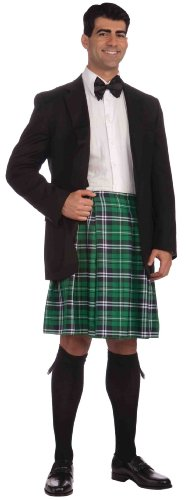 Forum St. Patrick'S Day Costume, Green Plaid, One Size front-283195