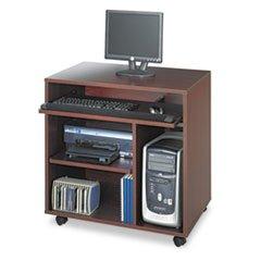 ** Ready-to-Use PC Workstation, 31-3/4w x 19-3/4d x 31-3/8h, Mahogany Laminate Top