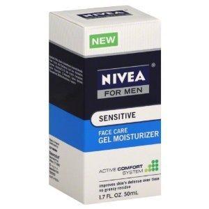 Nivea Sensitive Gel Moisturizer for Men 1.7 OZ (PACK OF 2)