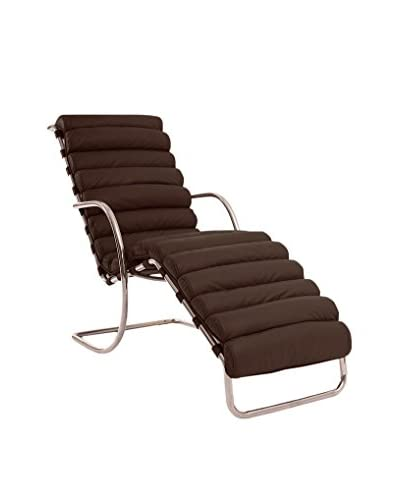 Kardiel Modern Arm Chaise Lounge, Cocoa