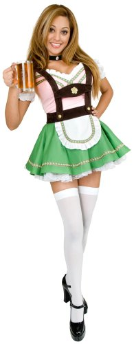 Bavarian Beer Garden Girl Costume - X-Large - Dress Size 14-16