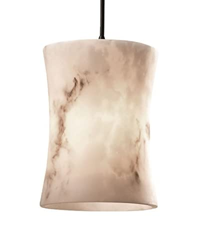 Justice Design Group Small 1-Light Pendant, Dark Bronze