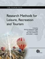Research Methods for Leisure, Recreation and Tourism...