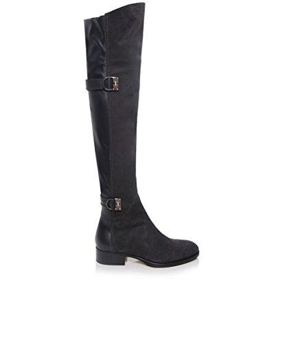 Le Pepe Stivali in camoscio ginocchio Grigio EU38 / UK5