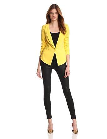 aryn K Women's Blazer, Yellow, X-Small