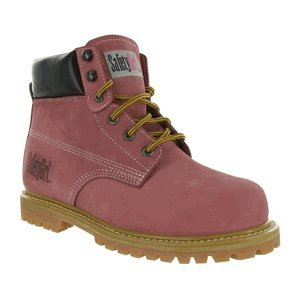 SafetyGirl Steel Toe Waterproof Womens Work Boots - Light Pink (8W)