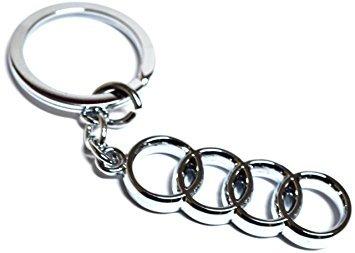 Kolossalz Audi Car Logo Keychain || Royal Enfield Cruiser Bike Keychain Copper Bullet Key Chain Bike Keyring Keychain...