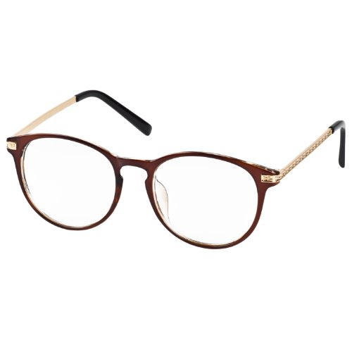 IB-IP ltext - motivo a rombi hadband cebbra lente trasparente moda occhiali da sole occhiali, Marrone (Marrone), taglia unica