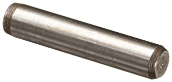 416 Stainless Steel Dowel Pin, Plain Finish, Meets MS16555, Inch