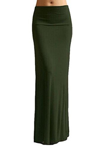 CASUALQA-WomenS-Rayon-Span-Maxi-Skirt-Solid