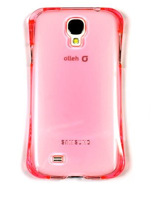 S4 Case, Samsung Galaxy S4 Curved Aqua Crystal Hard Smartphone Carrying Case, Clear Slim Fit E300, E330 Mobile Cover With Anti-Shock, Water Resistance (Pink)