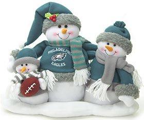#!Cheap Philadelphia Eagles NFL Football Plush Snowman Family Table Top Decoration