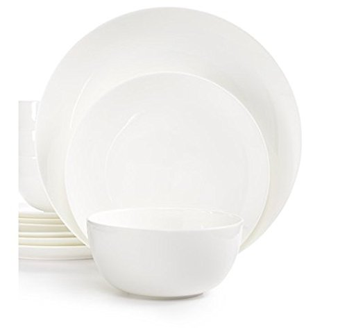 Hotel Collection White Bone China Coupe 12-pc. Dinnerware Set Service for 4 (Hotel Dinnerware compare prices)