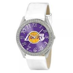 LOS ANGELES LAKERS NBA GLITZ WHITE WATCH Ladies Sports Jewelry by NBA